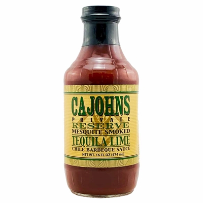 CaJohns Mesquite Smoked Tequila Lime Chile Barbeque Sauce