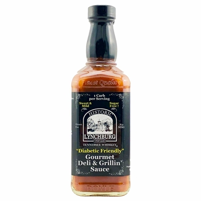 "Historic Lynchburg Tennessee Whiskey ""Diabetic Friendly"" Gourmet Deli & Grillin' Sauce - MILD"