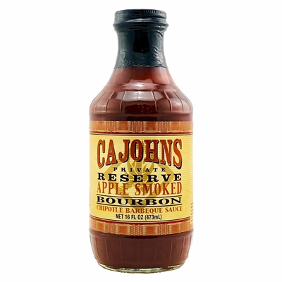 CaJohns Apple Smoked Bourbon Chipotle Barbecue Sauce